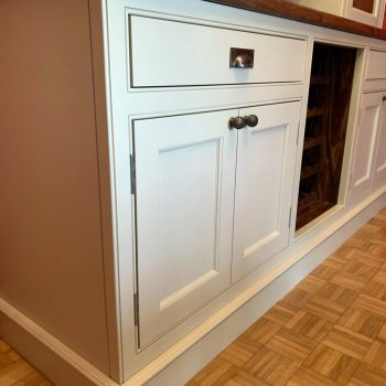 Shaker doors with ovolo moulding, Bespoke Wine cabinet