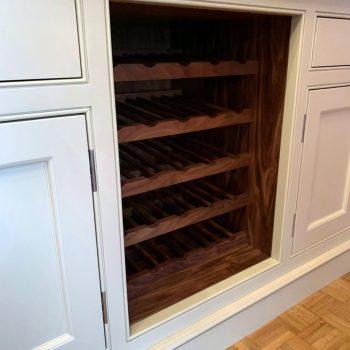 Black American Walnut Wine bottle shelves