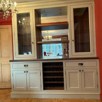 Bespoke Black American Walnut wine cabinet