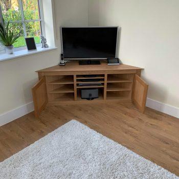 Solid Oak Television cabinet
