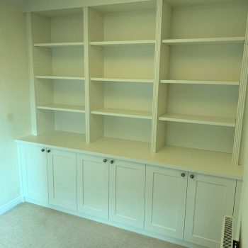 Bookcase with reeded frame work
