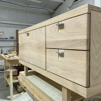 Hand made Solid Oak television Unit