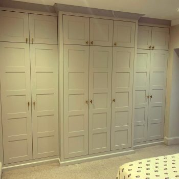 Breakfront wardrobe fully fitted with skirting and coving shaker doors