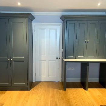 Dining room joinery, Drinks unit, open display shelves