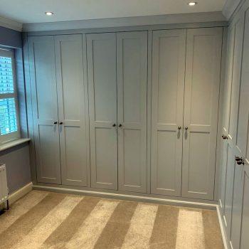 Bespoke wardrobes with square edge shaker style doors