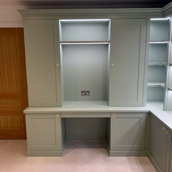 Home office joinery with shaker doors