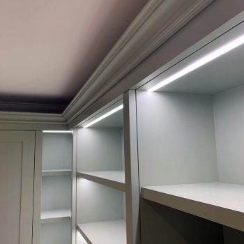 LED strip lighting fitted into a Bespoke display cabinet
