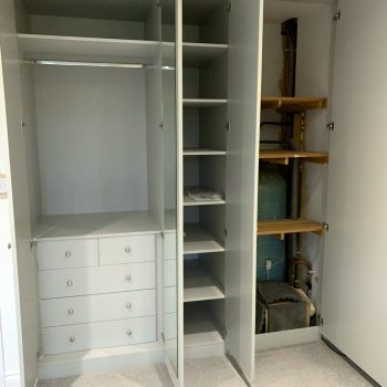 Wardrobes and airing cupboard