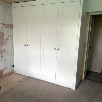 Bespoke wardrobes with square edged shaker style doors