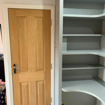 Bespoke home office with floating shelves