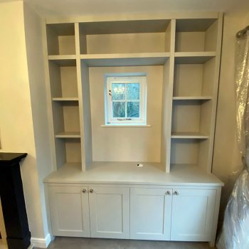 Alcove joinery manufactured around a window