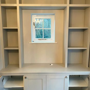 Alcove joinery manufactured and fitted around existing window