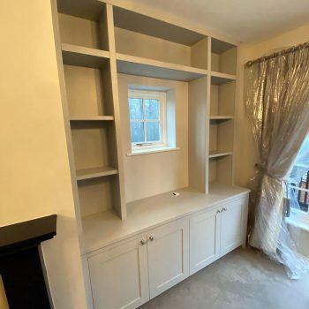 Alcove joinery designed to accommodate television