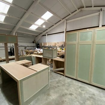 Kitchen being made in Touch Bespoke Joinery Factory