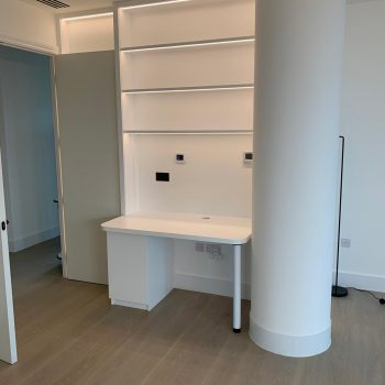 Bespoke Desk manufactured which included LED strip lighting
